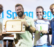 Premier Dr. Orlando Smith presents the Best BVI Boat award to Colin Rathbun