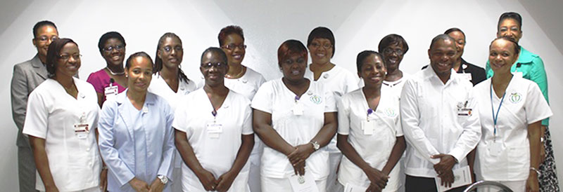 New BVIHSA Charge Nurses with Executive Team Members