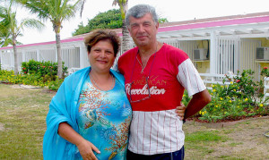 Dr. Silvano Scarponi and his wife Professor Paola Ciarlantini-Scarponi at the Anegada Reef Hotel during their recent holiday on the northernmost island of the British Virgin Islands