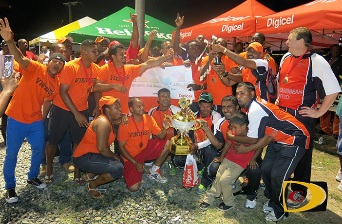 The Vikings celebrate their first Digicel T20 title