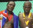Dwayne Donovan and Daniel Samuel after winning their bouts