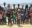 Some of the KATS Swimmers at Nanny Cay as the program ended on Sept 6