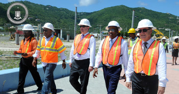 From left to right: Mr. Theodore James, Mr. Dion Stoutt, Mr. James Duddridge, Honourable Mark Vanterpool and His Excellency The Governor John S. Duncan
