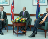 Premier Smith Hosts Joint Press Briefing With New Minister For Overseas Territories