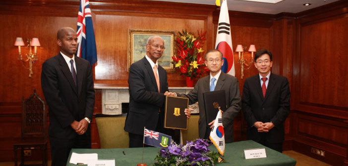 BVI Signs 27th Tax Information Exchange Agreement With South Korea