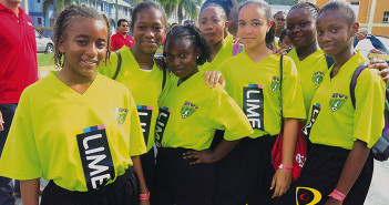 Anegada's Claudia Creque School was among the 68 teams parading from the Road Town Ferry Dock to the A. O. Shirley Recreation Grounds on Wednesday, signaling the start of the 4th BDO Primary and LIME High School Football League  -- Photo By Dean Greenaway