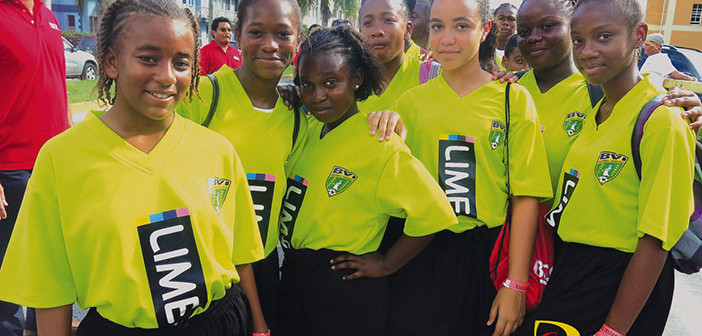 Anegada's Claudia Creque School was among the 68 teams parading from the Road Town Ferry Dock