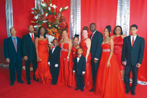 Family photo (left to right ) Mervin Lake, Alex Lake, Natalie Penn, J'Len Lake, Patsy Lake, Koiya Rymer, Tre Lake, Suzanne Rymer, Kye Rymer, Seriya Rymer, Savitri Lake, Mark Lake