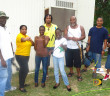 As Archery is being developed in the territory, there's a wide range of interest in the sport, which is practiced at the H. Lavity Scoutt Community College campus in Paraquita Bay. Patrick Smith and David Foster-6-7 right, with a group of enthusiasts after one practice