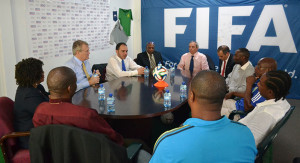 The Prince sat down with BVIFA Executive members and staff Coaches to discuss his vision for football development, both within the Region and worldwide