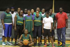 The first Women's Basketball team assembled to represent the BVI in a tournament in the BVI Basketball Federation's 41-year history
