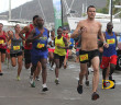 """St. John's Timothy """"TJ"""" Hindes takes out the field in Saturday's Virgin Gorda Half Marathon en route to improving his own course record with a time of 1 hour 32 minutes and 05 seconds PHOTO: Dean """"The Sportsman"""" Greenaway"""