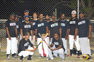 The Mobsters collected their first victory of the abbreviated BVI Softball Association league