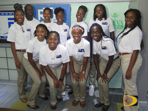 The BVI's 1st U18 Women's Volleyball team