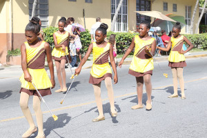 Francis Lettsome Primary School's Majorettes in action