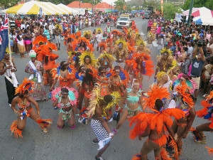 A segment of the Jewels of Anegada troupe  -   FIRST PLACE WINNERS  IN THE TROUPES CATEGORY [Photo by Dean Greenaway]