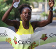 Rosmond Johnson won her third straight Ceres Juices 10K Series race Saturday, on Beef Island