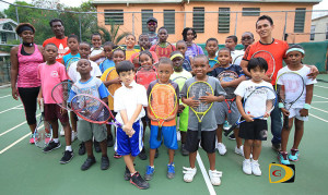 25 participants turned out for the launch of the BVI Tennis Association Jr. Program