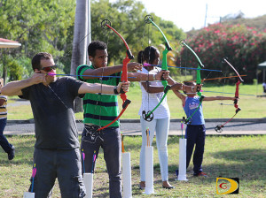 A number of persons have been taking up the sport of Archery in the last year since the association was launched. Practices are held from 1 p.m. on Saturdays at the HLSCC campus