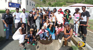 Participants in Saturday's inaugural BVI Archery Association's Zombie apocalypse shootout