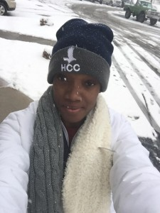 Sharonda Pickering saw snow for the first time while helping the Hillsborough Community College Lady Hawks to the Jr. Colleges Volleyball National Championships bronze medal