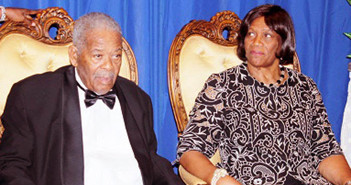 Hon. Ralph T. O'Neal and Mrs O'Neal  during the gala dinner celebrating the golden jubilee of the great BVI statesman  [Photo courtesy of  Virgin Islands News Online ]