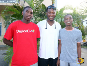 D'Moi Hodge, left, Jason Edwin and Malacahy Payne