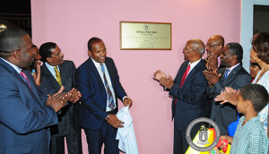Unveiling of Cornerstone Plaque for Tortola Pier Park (Photo credit: Ronnielle Frazer/GIS)