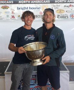 49er Sailors Chris Brockbank, left and Alec Anderson