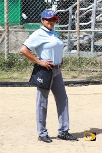 Umpire Faith Maduro Powell has been a fixture at BVI Softball Association games for the last 8-10 years