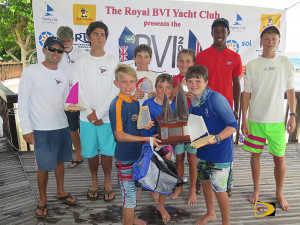15th BVI Dinghy Championships Fleet winners