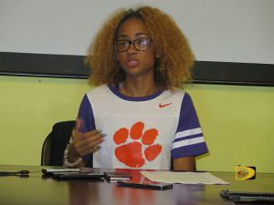 "Lakeisha ""Mimi"" Warner speaking about her decision to attend Clemson University"