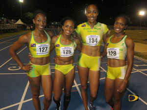 BVI 4x100m Relay quartet of Ashley Kelly, Tahesia Harrigan-Scott, Chanel Malone and Karene King broke St. Kitts-Nevis' OECS record of 43.53 seconds with a run of 43.45 seconds.