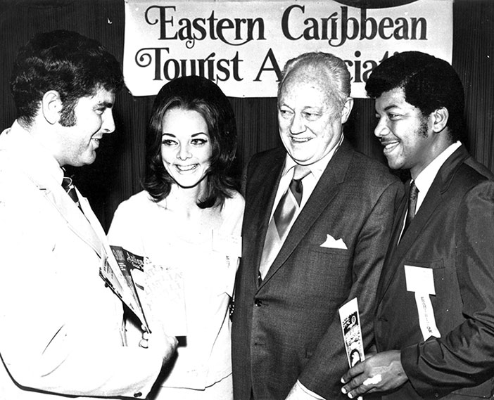 1970s: Douglas Wheatley at right at the Eastern Caribbean Tourist Association general meeting