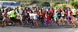 Some 119 participants take off in the 2-Miles section of the College Classic Series