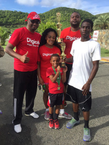 Kevin Gordon, left and the Digicel College Classic Series Community Partners winning team