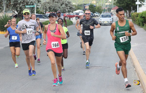 Reuben Stoby, right and Maria Mays were the overall Ceres Juices 10K Series champions