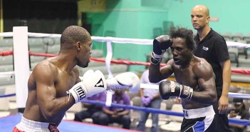 """Julan """"Iron Fist"""" Brown, left and Miguel """"Iron Dog"""" Ray, battled over eight rounds"""