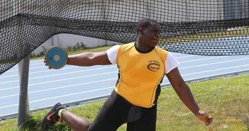 Djimon Gumbs added 24 feet on to his personal best in the Discus Throw