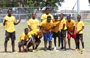 Seventh Day Adventist U15 Rugby team that beat Elmore Stoutt 5-2, to complete a sweep of all BVI Schools Rugby Festival divisions