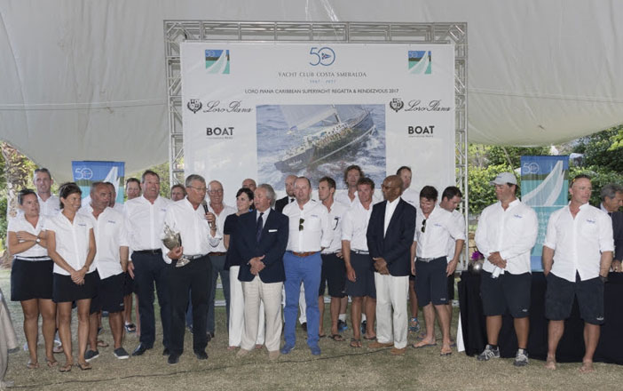 Nilaya Overall and Class A Winners, Loro Piana Caribbean Superyacht Regatta & Rendezvous 2017. Photo credits: Borlenghi/YCCS/BIM