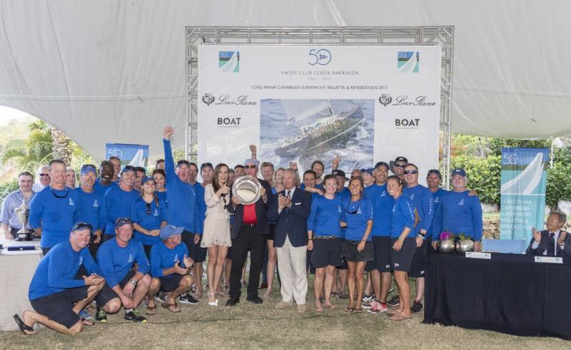 P2 Class B Winners, Loro Piana Caribbean Superyacht Regatta & Rendezvous 2017. Photo credits: Borlenghi/YCCS/BIM