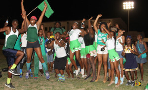 Lettsome House celebrates winning their 9th Elmore Stoutt High School Inter House Sports Day title, their 4th in a row