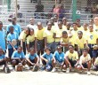 Primary School coed Softball teams from Pelican Gate, left, Jost Van Dyke, Enis Adams, Willard Wheatley and Ebenezer Thomas, that participated in the Department of Youth Affairs & Sports Primary Schools Double Elimination Softball Tournament on Saturday at the E. Walwyn Brewley Softball Park