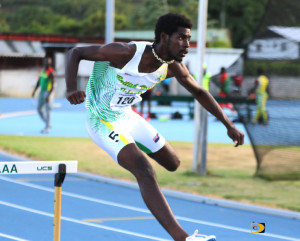 Kyron McMaster shaved his 400m Hurdles record from 48.71 seconds to 48.69, competing in Florida