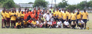 Primary School Softball teams from Robinson O'Neal, left, Cornerstone, Ciboney and Bregado Flax, competed in a spirited Dept of Youth Affairs Primary Schools Double Elimination Softball Tournament on Saturday