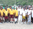 Robinson O'Neal and Ebenezer Thomas Primary Schools softball teams following Saturday's game