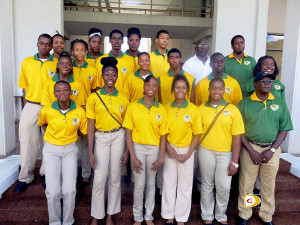 The 2014 BVI Carifta Games delegation were presented on Monday at the Central Administration Complex Breezeway