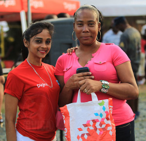 Digicel winner: Every week Digicel gives away a phone during a raffle.