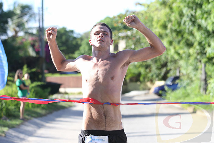 "St. John's Timothy ""TJ"" HIndes, won Saturday's challenging 3rd Virgin Gorda Half Marathon dubbed ""The Beauty & the Beast""  in 1 hr 23 minutes and 34 seconds. PHOTO :Dean ""The Sportsman"" Greenaway"